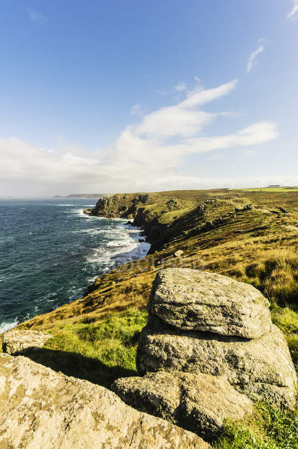 Reino Unido, Cornwall, Lands End, falésias perto Penzance — Fotografia de Stock