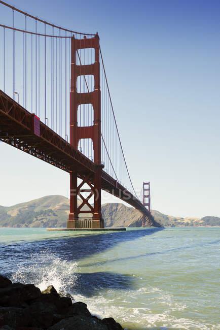 EUA, Califórnia, Golden Gate Bridge e baía de São Francisco — Fotografia de Stock