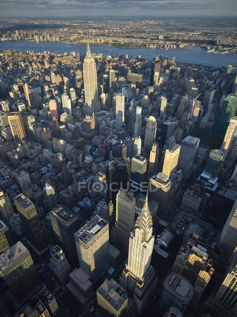 Foto aerea di Midtown Manhattan, New York, New York, USA — Foto stock