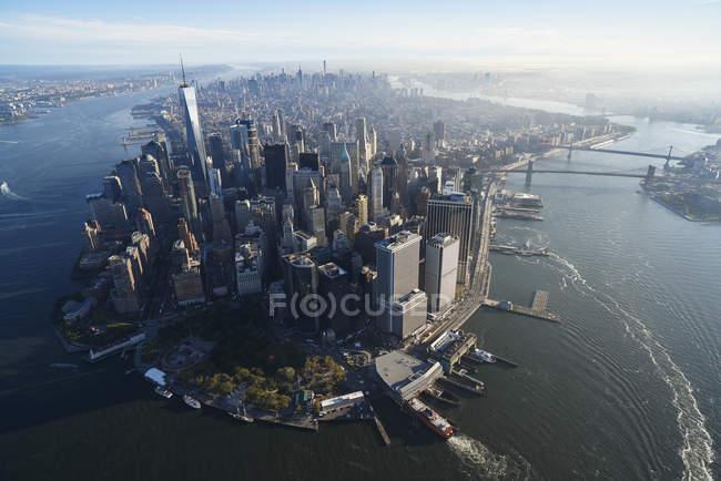 Fotografia aérea da cidade de Nova Iorque, EUA — Fotografia de Stock