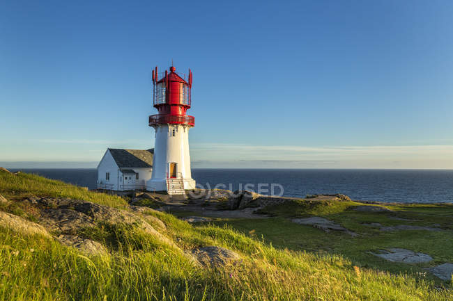 Norway, Vest-Agder, lighthouse Cape Lindesnes — Stock Photo