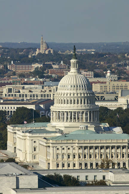 USA, Washington, D.C., Aerial photograph of  the United States Capitol — Stock Photo