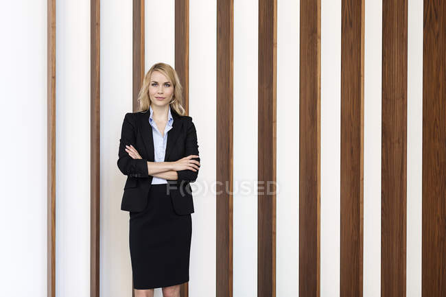 Portrait de femme d'affaires confiant — Photo de stock