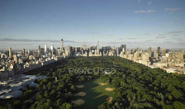 Fotografia aérea de Central Park, em Manhattan, Nova York City, Nova Iorque, EUA — Fotografia de Stock