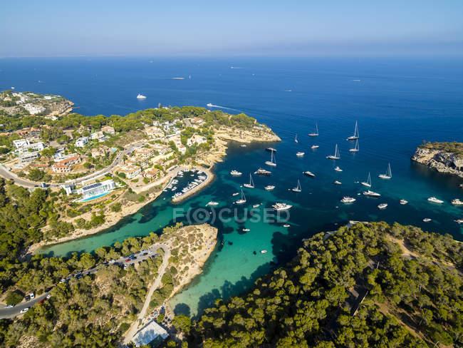 Spagna, Isole Baleari, Maiorca, El Toro, Ville vicino a Portals Vells — Foto stock