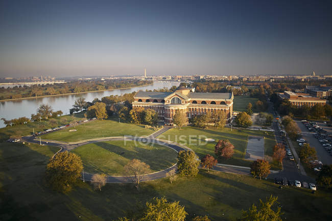 USA, Washington, D.C., Aerial photograph of National War College — Stock Photo