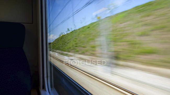 Іспанія, Тенеріфе, краєвид видно з водіння поїзд — стокове фото