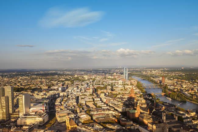 Luftaufnahme von Frankfurt A.m. Stadtansicht, Deutschland, Europa — Stockfoto