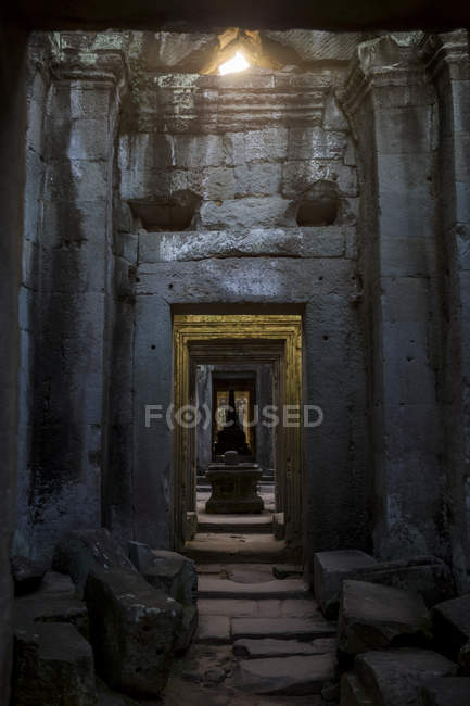 Камбоджа, Ангкор, Siem Reap, прохід в Преахвіхеа Хана — стокове фото