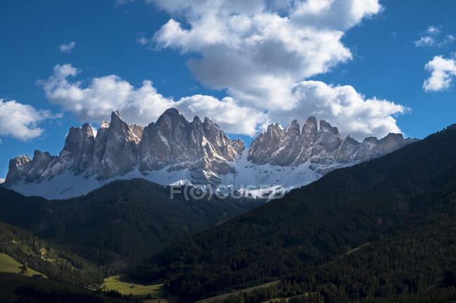 Italy, South Tyrol, view to Geisler group — Stock Photo