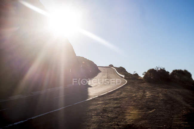 Spain, Tenerife, Teide National Park, Mountain road during daytime — Stock Photo