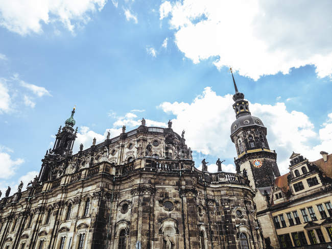 Germania, Dresda, veduta della Cattedrale di Dresda contro il cielo — Foto stock