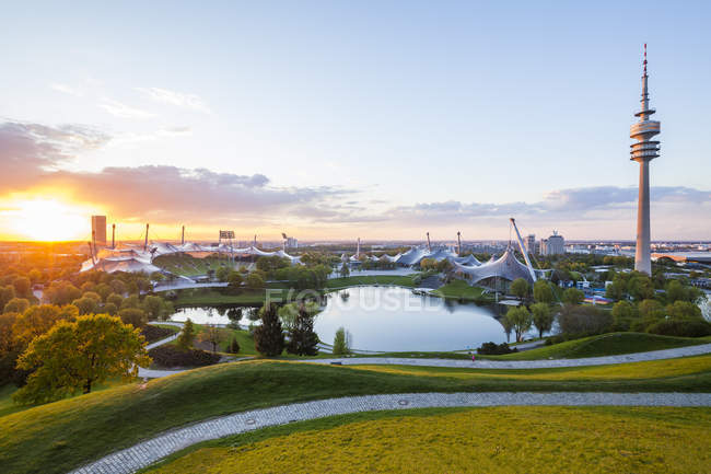 Germany, Bavaria, Munich, olympic park view — Stock Photo
