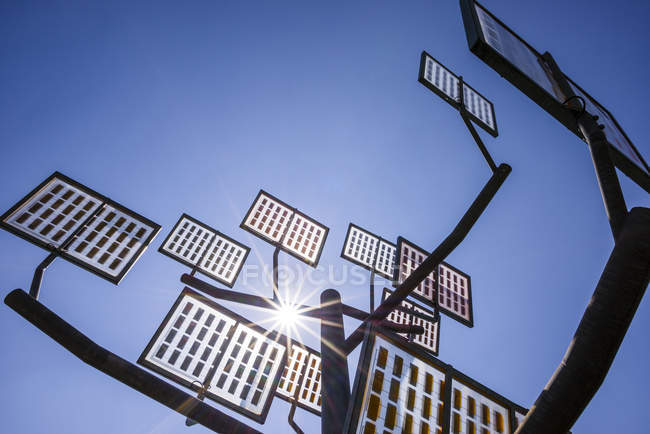 Germany, Ulm, solar tree at Solar City — Stock Photo