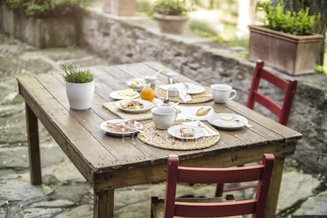 Закладено в садові таблиці — стокове фото