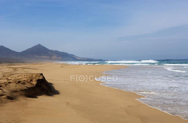 Іспанія, Канарські острови, Фуертевентура, Cofete, пляж — стокове фото