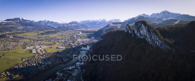 Österreich, Bundesland Salzburg, Hallein und Barmsteine Berg — Stockfoto