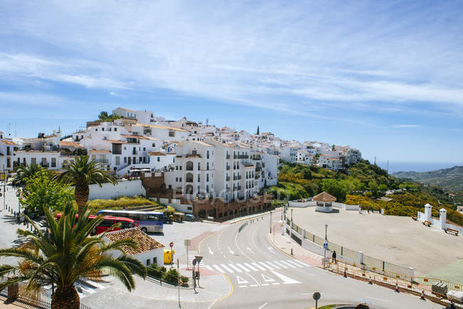 Spain, Andalusia, Malaga, Frigiliana, white town on the Costa del Sol — Stock Photo