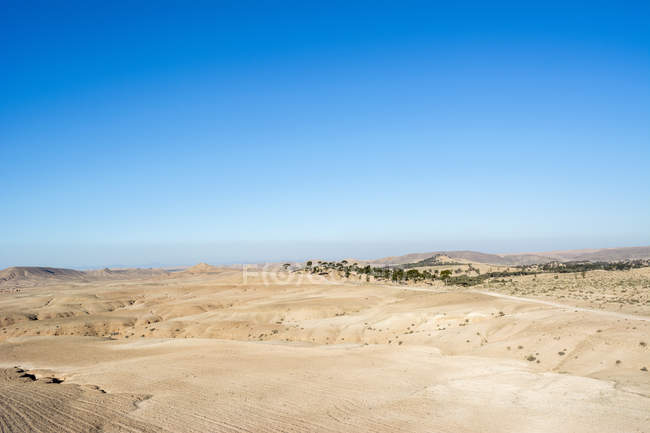 Morocco, desert of Agafay, Africa — Stock Photo