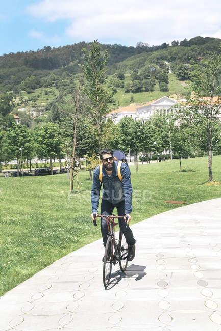 Испания, Бильбао, мужской велоспорт — стоковое фото