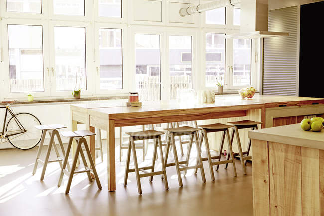 Interior of Modern canteen in a modern office — Stock Photo