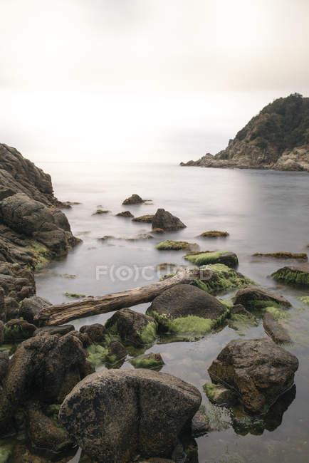 Испания, Каталония, побережье в Ллоре-де-Мар — стоковое фото