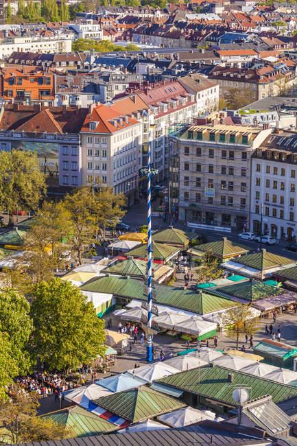 Germania, Baviera, Monaco di Baviera, vecchia vista aerea paesaggio urbano della città — Foto stock
