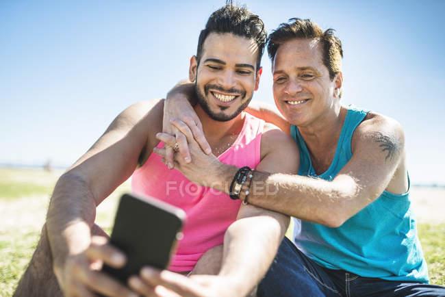 gay couple selfie