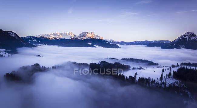 Австрия, Зальцбург государства, Дахштайн массивные, вид от Постальм — стоковое фото