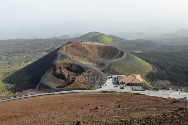 Італія, Сицилія, Етна, вулканічний кратер Сільвестрі — стокове фото