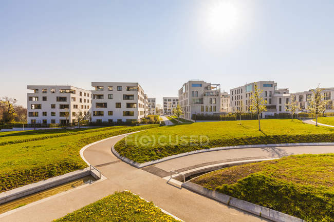 Germany, Baden-Wuerttemberg, Stuttgart, Killesberg, Premium freehold flats — Stock Photo