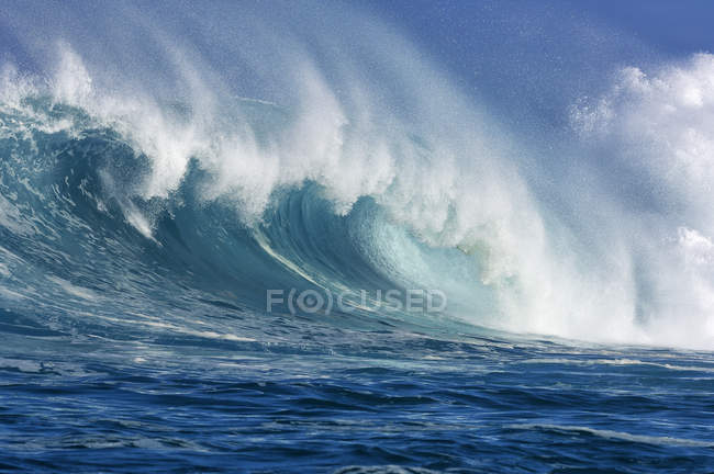 Big wave rip curl in sunny daylight — Stock Photo