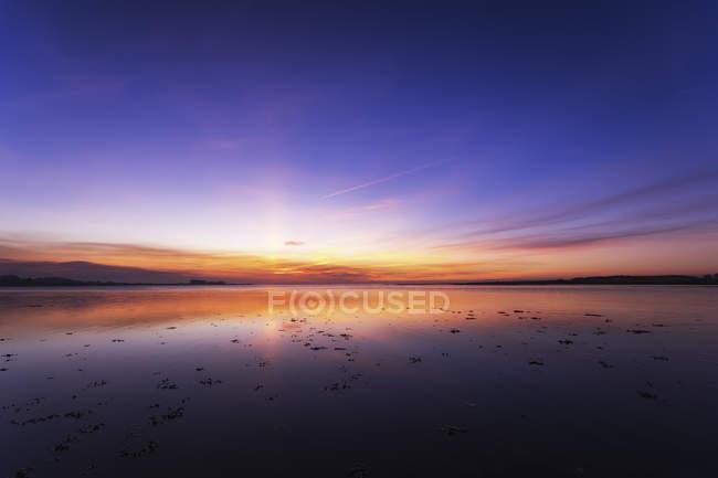 Royaume-Uni, Écosse, East Lothian, Aberlady, vue sur le coucher du soleil — Photo de stock