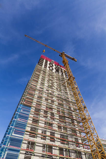 Germany, Stuttgart, construction site of new office building — Stock Photo