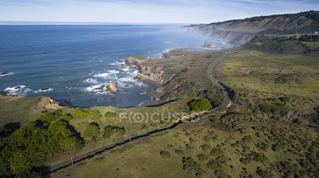 Vue aérienne de USA, Californie, de la route 1 — Photo de stock