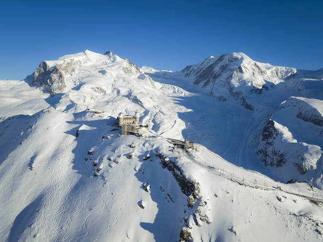 Suisse, Zermatt, Gornergrat, vue de l'hôtel Kulm — Photo de stock