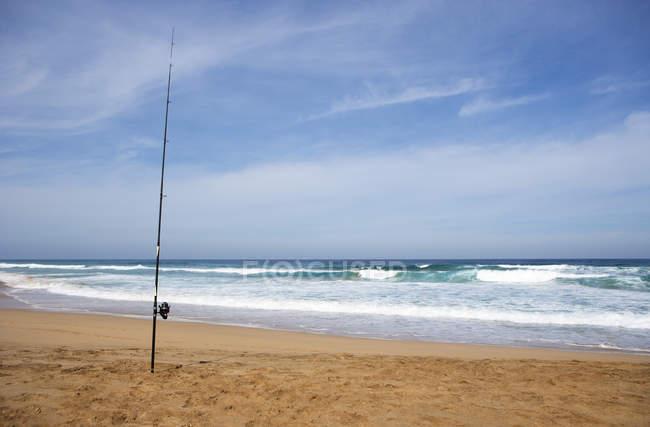 Испания, Канарские острова, Фуэртевентура, Cofete, удочку на пляже — стоковое фото