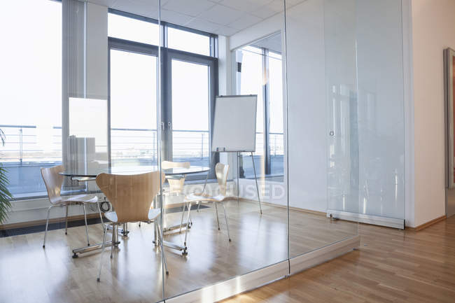 Office interior, table with chairs in board room — Stock Photo