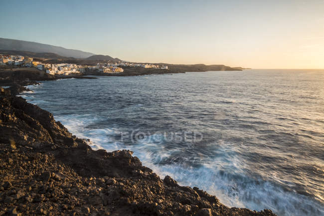 Spain, Tenerife, coast at sunrise — Stock Photo