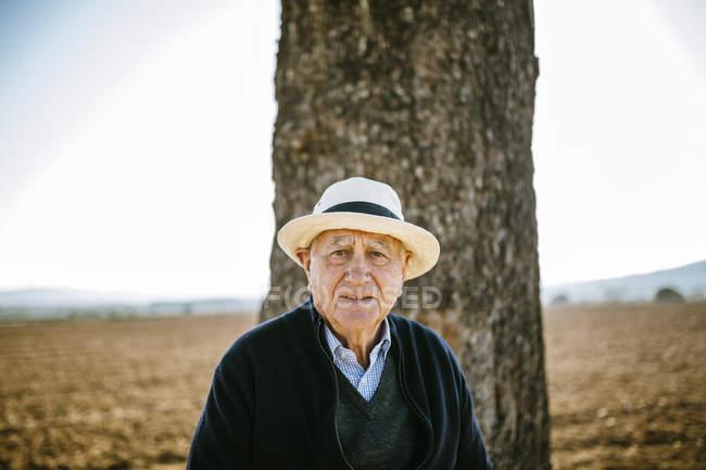 Испания, Taragona, Портрет пожилого человека — стоковое фото