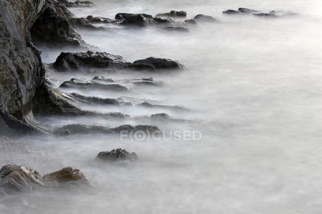 Fine Art Photography of stones in mist — Stock Photo