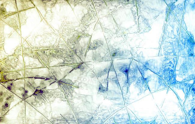 Vista superior de la estructura de colores congelada - foto de stock