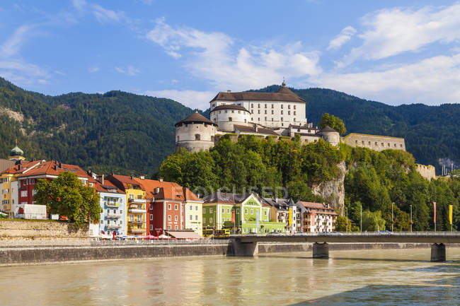 Fortress above the Inn and the old town, Kufstein, Tyrol, Austria — Stock Photo