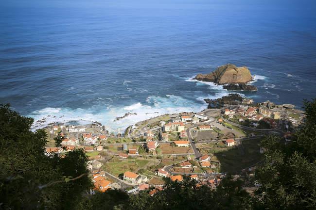 Portugal, Madeira, aerial view on Porto Moniz — Fotografia de Stock