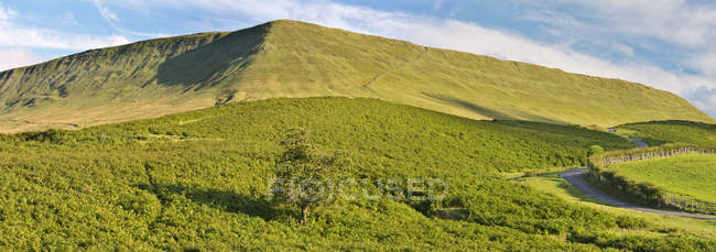 Brecon and Beacons National Park, Hay Bluff hill, Wales, UK — Stock Photo