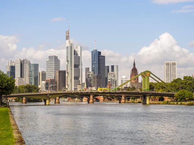 Finanzbezirk Frankfurt am Main Stadtbild, Deutschland, Europa — Stockfoto