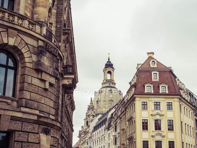 Deutschland, Sachsen, Dresden, Kuppel der Dresdner Frauenkirche — Stockfoto