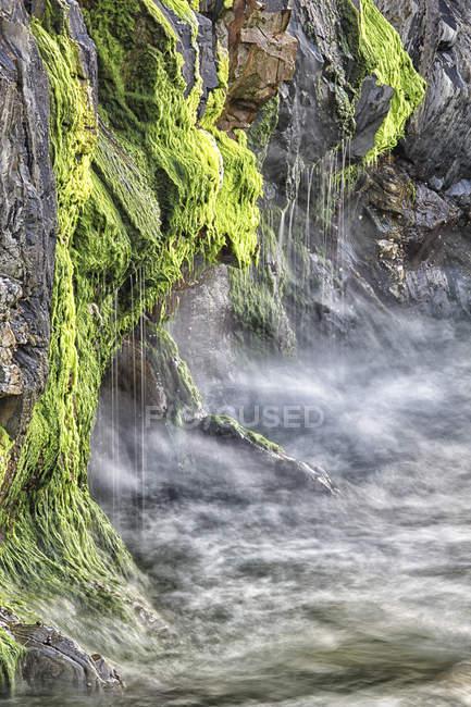 Spain, Asturias, close-up of the cliffs of El Silencio Gavieira near Cudillero — Stock Photo