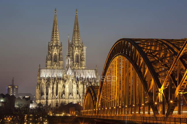 Vue sur la cathédrale de Cologne, Cologne, Allemagne — Photo de stock