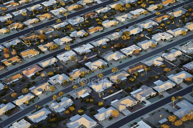 Aerial view of  Sun City retirement community  near Phoenix, Arizona, USA. — Stock Photo